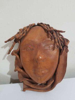 Hermoso Rostro Mujer Africana Mascara 100% Piel