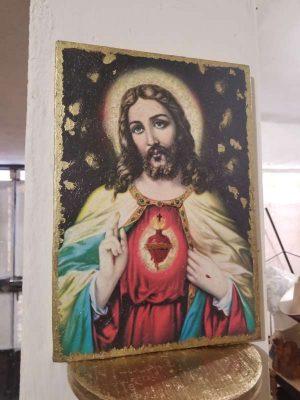 *Cuadro Cristo Madera elaborado a mano