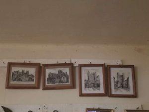 Juego de 4 Cuadros Con Imagenes De Castillos Tipo Fotografía