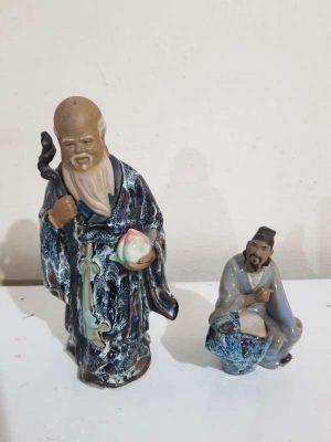 Bellos Sabios Orientales Porcelana Negra