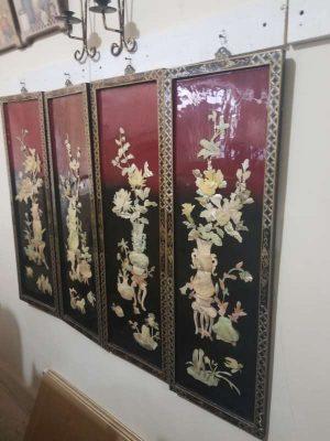 Lindos Cuadros DecorativosOrientales De Buen Tamaño madera de Sandalo