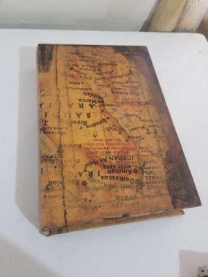 alhajero o caja de seguridad diseño libro tema mapa antiguo