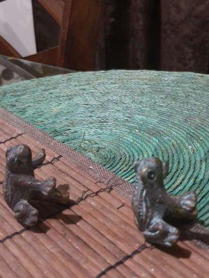 Jaladeras De Bronce Solido Ranitas Antiguas No Comunes